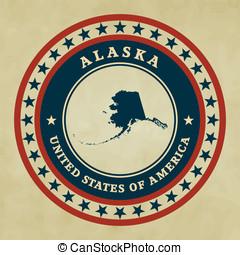 Vintage label Alaska