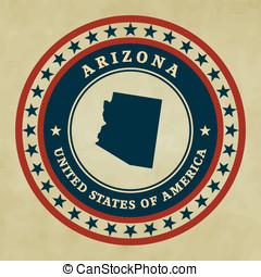 Vintage label Arizona
