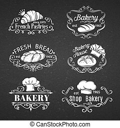 vintage label bakery