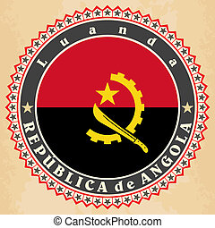 cards of  Angola flag