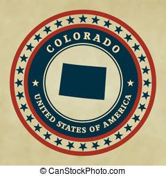 Vintage label Colorado
