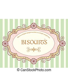 Cute vintage vector label with sample text