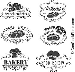 Vintage Label Decorative Bakery and bread