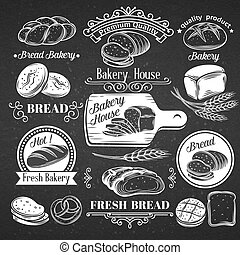 Vintage Label Decorative Bread.