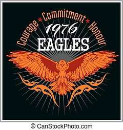 Vintage label Eagle - Retro emblem for tshirt