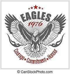 Vintage label Eagle - Retro emblem for tshirt