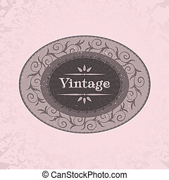vintage label - vintage label with space for text, vector...
