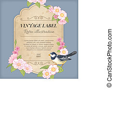 Vintage Label Illustration