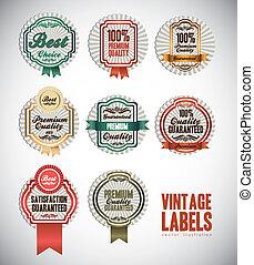 vintage label illustrations