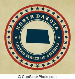 Vintage label North Dakota