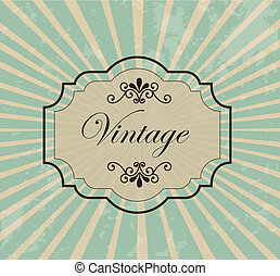 Vintage label over retro background vector illustration