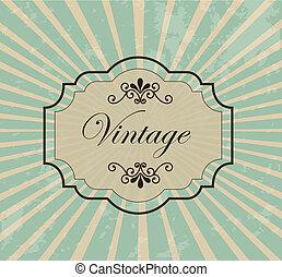 Vintage label over retro background vector illustration