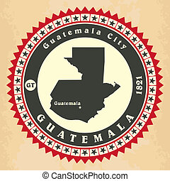 Vintage label-sticker cards of Guatemala.