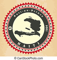 Vintage label-sticker cards of Haiti.