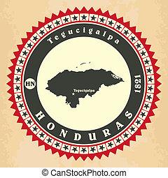 Vintage label-sticker cards of Honduras.