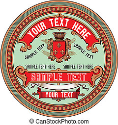 Vintage Label - Vector Label Art based on antique original. ...