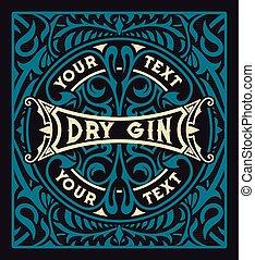 Vintage Label with Gin design