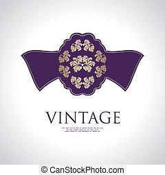 vintage label with special design