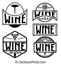 vintage labels and design elements of wine