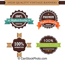 Vintage labels and ribbon