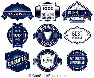 Vintage labels. Bitmap collection 1 - Set of vintage Premium...