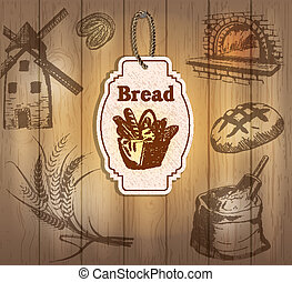 Vintage labels bread