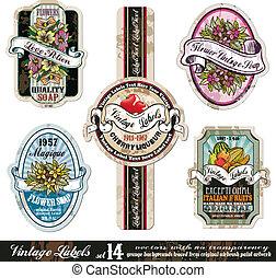 Vintage Labels Collection -Set 14 - Vintage Labels...