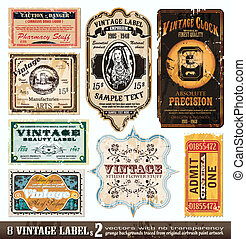 Vintage Labels Collection - Set 2 - Vintage Labels...