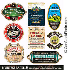 Vintage Labels Collection -Set 6