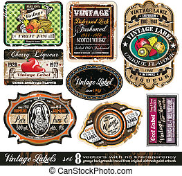 Vintage Labels Collection -Set 8 - Vintage Labels Collection...