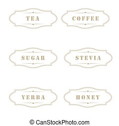 vintage labels for use in kitchen