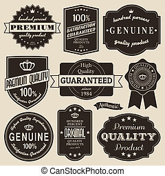 Vintage Labels Set - A set of vintage design labels and...