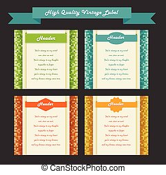 vintage labels set, vector.