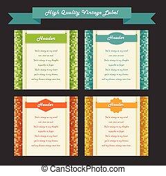 vintage labels set, vector.