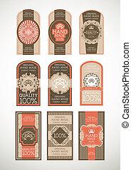 vintage labels set, vector with eps