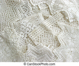 Vintage lace background - Background of white vintage lace