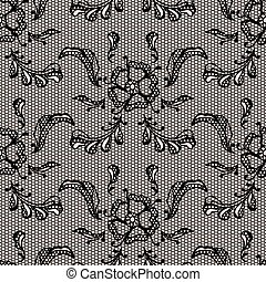 Vintage lace background, ornamental flowers. Vector texture