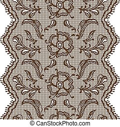 Vintage lace background, ornamental flowers