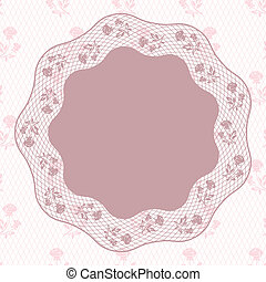 Vintage lace background, ornamental flowers. Vector card.