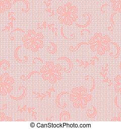 Vintage Lace Background Ornamental Flowers Vector Texture