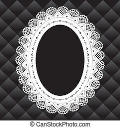 Vintage Lace Doily Frame - Vintage lace doily oval picture ...