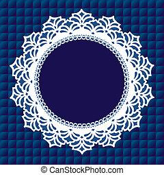 Vintage Lace Doily Frame - Vintage lace doily round picture ...