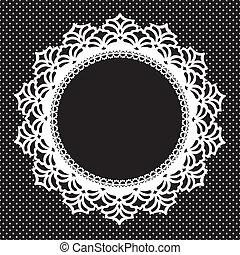 Vintage Lace Doily Frame - Vintage lace doily round picture...