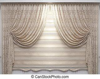 Vintage lace drapes