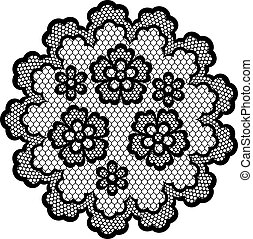 Vintage lace frame, abstract ornament. Vector texture.