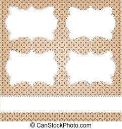 Vintage lace frame layout