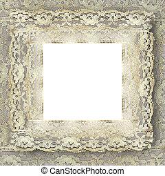 vintage lace frame