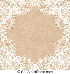 Vintage lace invitation card.