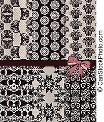 Vintage lace ornaments pattern