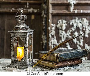 Vintage lamp for the candle